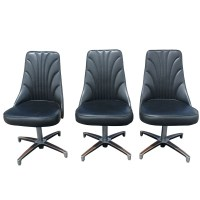 Mid Century Kagan Style Swivel Side Chairs | eBay