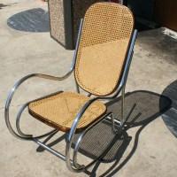 Vintage Tubular Chrome Rocking Chair   eBay