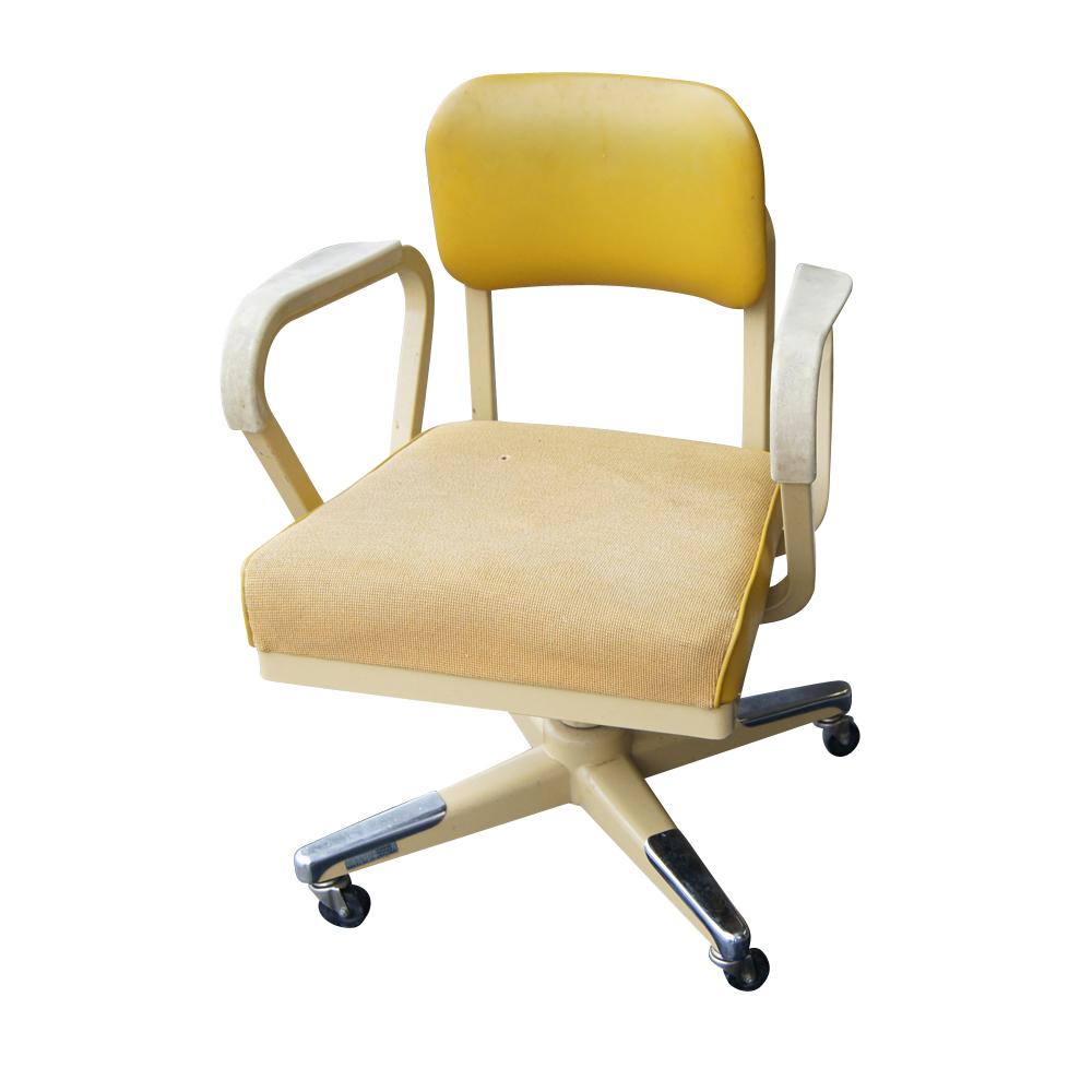 Vintage Industrial Age Royalmetal Desk Chair  eBay