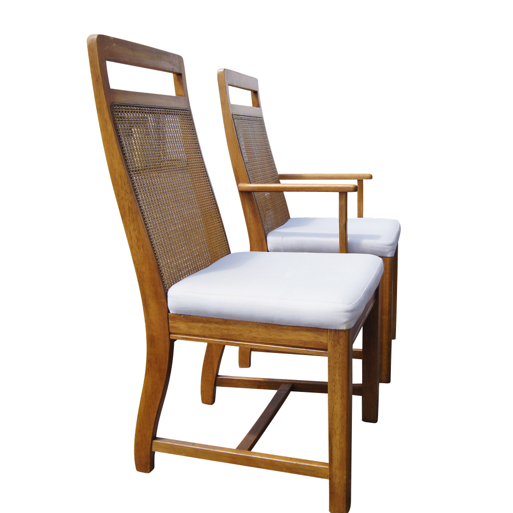 Set of 6 Cane Back Dining Chairs  eBay