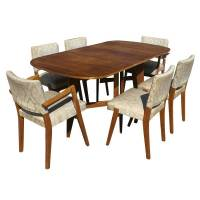 Scandinavian Dining Set (6) Chairs Drop Leaf Table (MR7320 ...