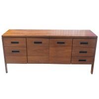 "65"" Vintage Steelcase Walnut Credenza File Cabinet | eBay"