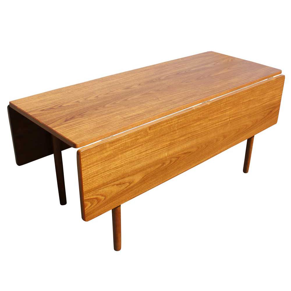 Danish Mid Century Modern Drop Leaf Dining Table  eBay