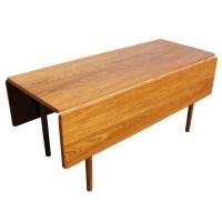 Danish Mid Century Modern Drop Leaf Dining Table | eBay