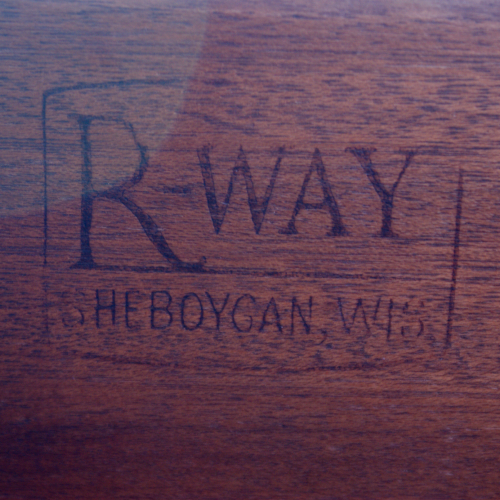 72 Vintage Regency R Way Cherry Wood Brass Desk EBay