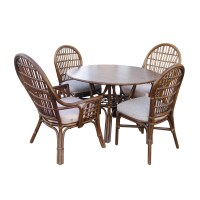 Vintage Rattan Dining Table and Chairs | eBay