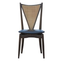 (6) Stakmore Mid Century Modern Cane Back Folding Chairs ...
