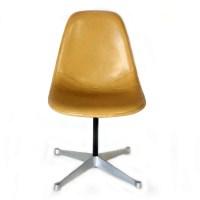 Herman Miller Eames Yellow Vinyl Shell Side chair | eBay