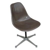 Herman Miller Eames Fiberglass Side Shell Chair Brown | eBay