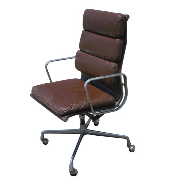 Herman Miller Eames Aluminum Group Leather Desk Chair