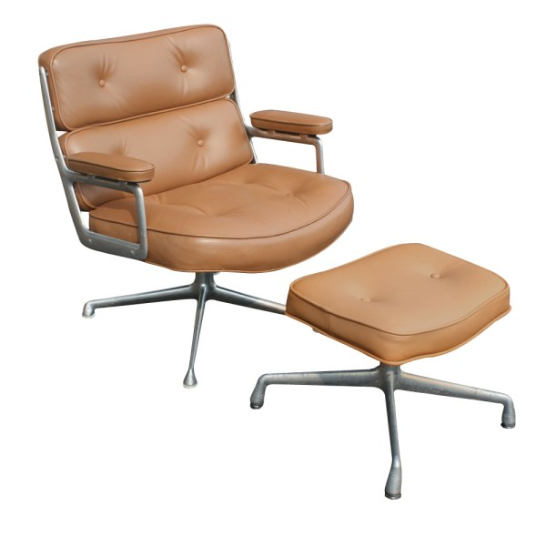 Herman Miller Time Life Lounge Leather Chair & Ottoman