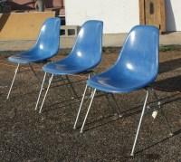 Vintage Mid Century Eames Turquoise Fiberglass Side Shell ...