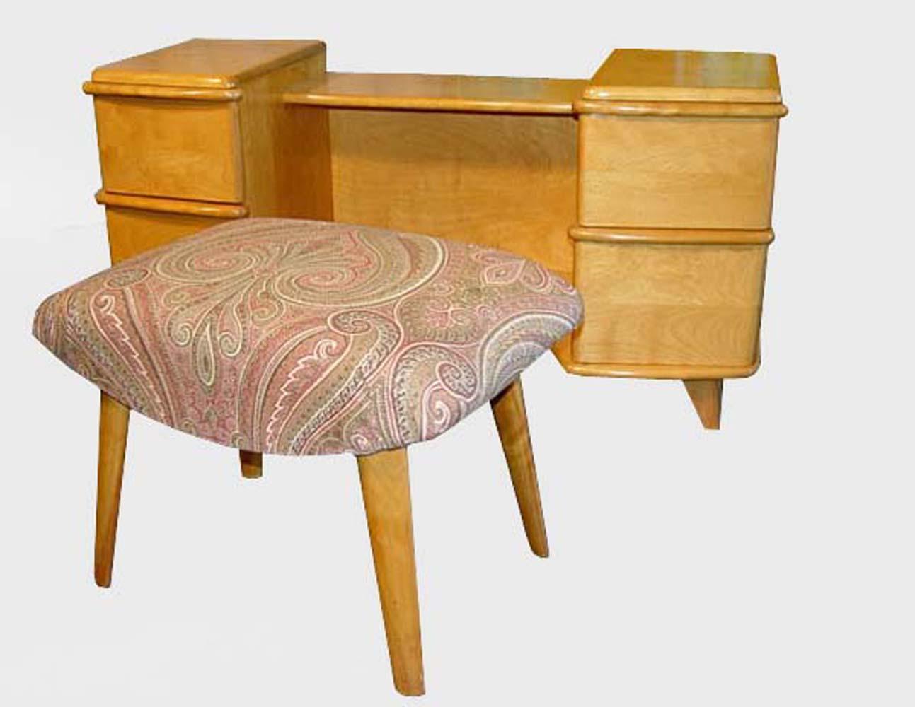 vintage school desk chair combo slipcovers t cushion 2 piece heywood wakefield hostgarcia