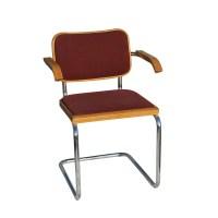 Knoll Marcel Breuer Cesca Side Chair Burgundy   eBay