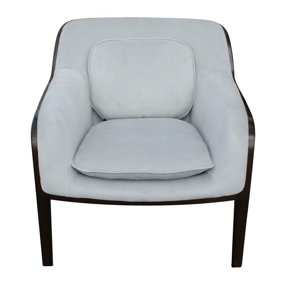 (2) Knoll Bill Stephens Bent Wood Club Lounge Chairs