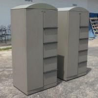 (1) Knoll Gray Storage Unit Cabinet