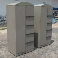 (1) Knoll Gray Storage Unit Cabinet | eBay
