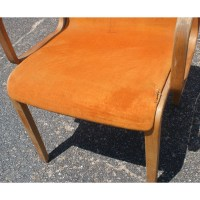 (2) Knoll Bent Wood Chairs by Bill Stephens