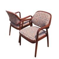 (2) Knoll Don Petitt 1105 Side Chair Bent Wood