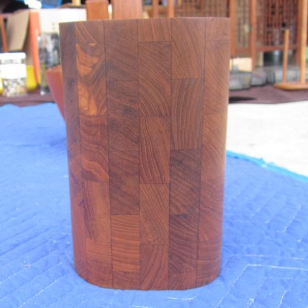 Vintage Siamese Teak Vase And Paper Towel Holder Ernest