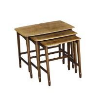 Set of Three Mahogany Remploy Wooden Nesting Tables   eBay