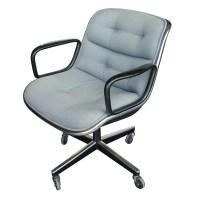 (4) Vintage Knoll Pollock Executive Swivel Arm Chairs | eBay