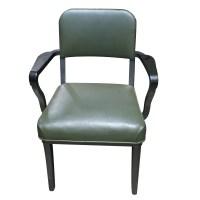 Mid Century Modern STEELCASE Arm Chair Metal Frame   eBay