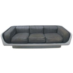 Steelcase Sofa Platner Leather Nailhead Set Midcentury Retro Style Modern Architectural Vintage Furniture From
