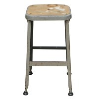 (1) Vintage Industrial Age Metal Bar Stool | eBay