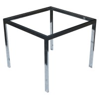 "26"" Vintage Square Chrome Side End Table Base"