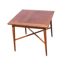 "24"" Vintage Mid Century Modern Walnut Side End Table   eBay"