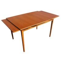 "79"" Vintage Danish Teak Extension Dining Table | eBay"