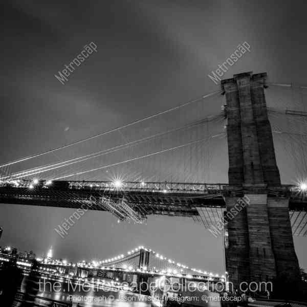 New York Brooklyn Bridge Black and White