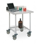 Metro Worktable with Stainless Top and 3-sided Frame