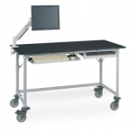 Metro Worktable with Black Phenolic Top and 3-sided Frame