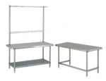 "30"" Deep Worktables with Overhead"