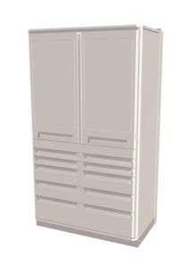 Stationary Heady Duty Tall Workcenter Unit with drawers and locks