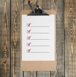 Process Checklist