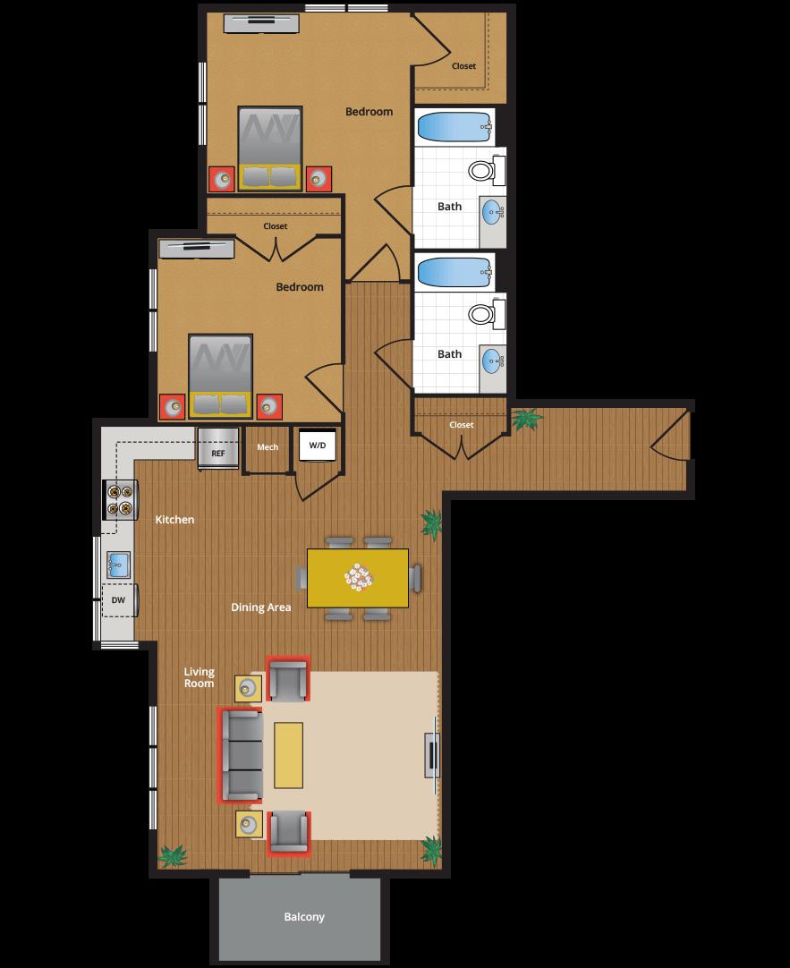 Metro Village Apartments Floor Plans  Pricing