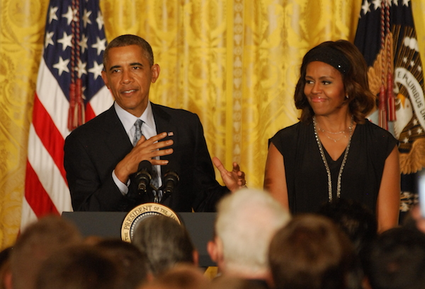 Photo: Barack Obama and Michelle Obama at the White House LGBT Pride Month reception. Credit: Ward Morrison/Metro Weekly.