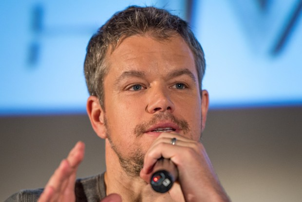 Matt Damon -- Photo Credit: (NASA/Bill Ingalls)