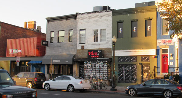 The Dirty Goose (right) shares a block of U Street with El Rey, Dodge City and the long-running Velvet Lounge - Photo: JD Uy