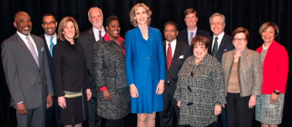 Mayor Jennifer Roberts (center) and members of the Charlotte City Council (Photo: CharlotteNC.Gov).