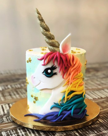 Cakes by Gene: Rainbow Unicorn theme
