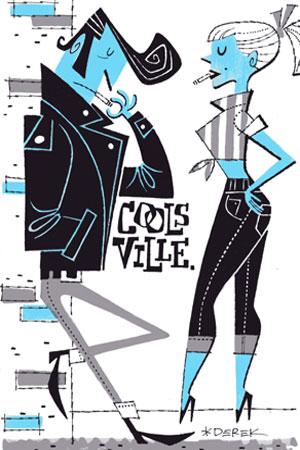 Ilustración de Derek Yaniger. Lowbrow art. Cools Ville