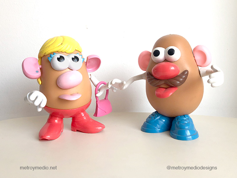 Mr y Mrs Potato, pareja feliz en casa de Metro&medio Designs