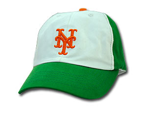 green and orange mets hat