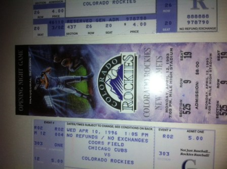 mets rockies 1993 tickets