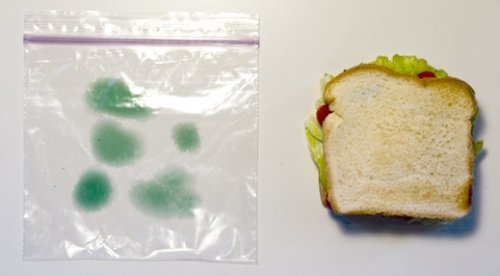Vorher: ungeschütztes Sandwich