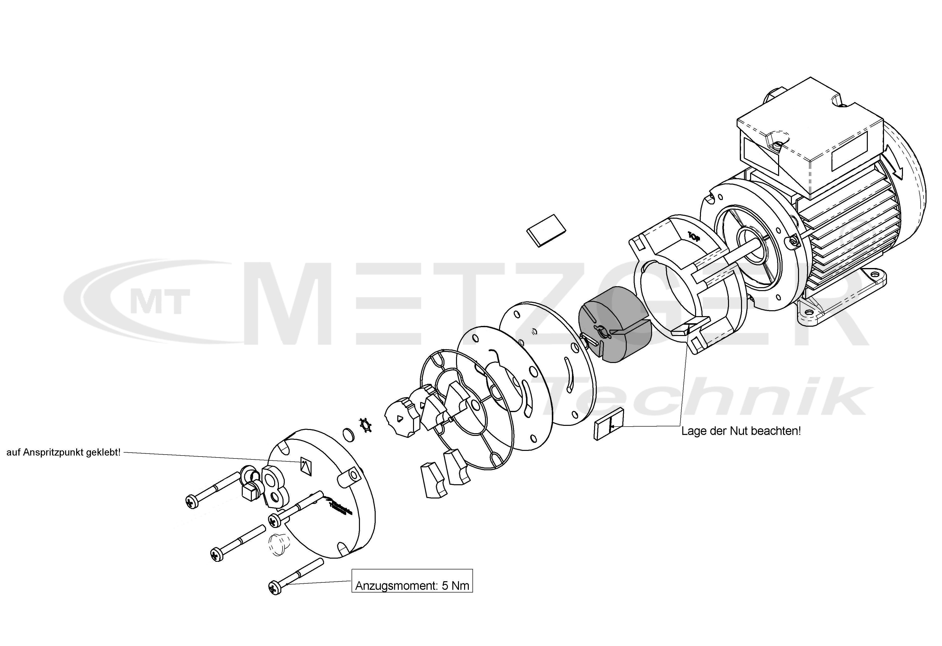 Rotor For Rotary Vane Pump Base Vd 6